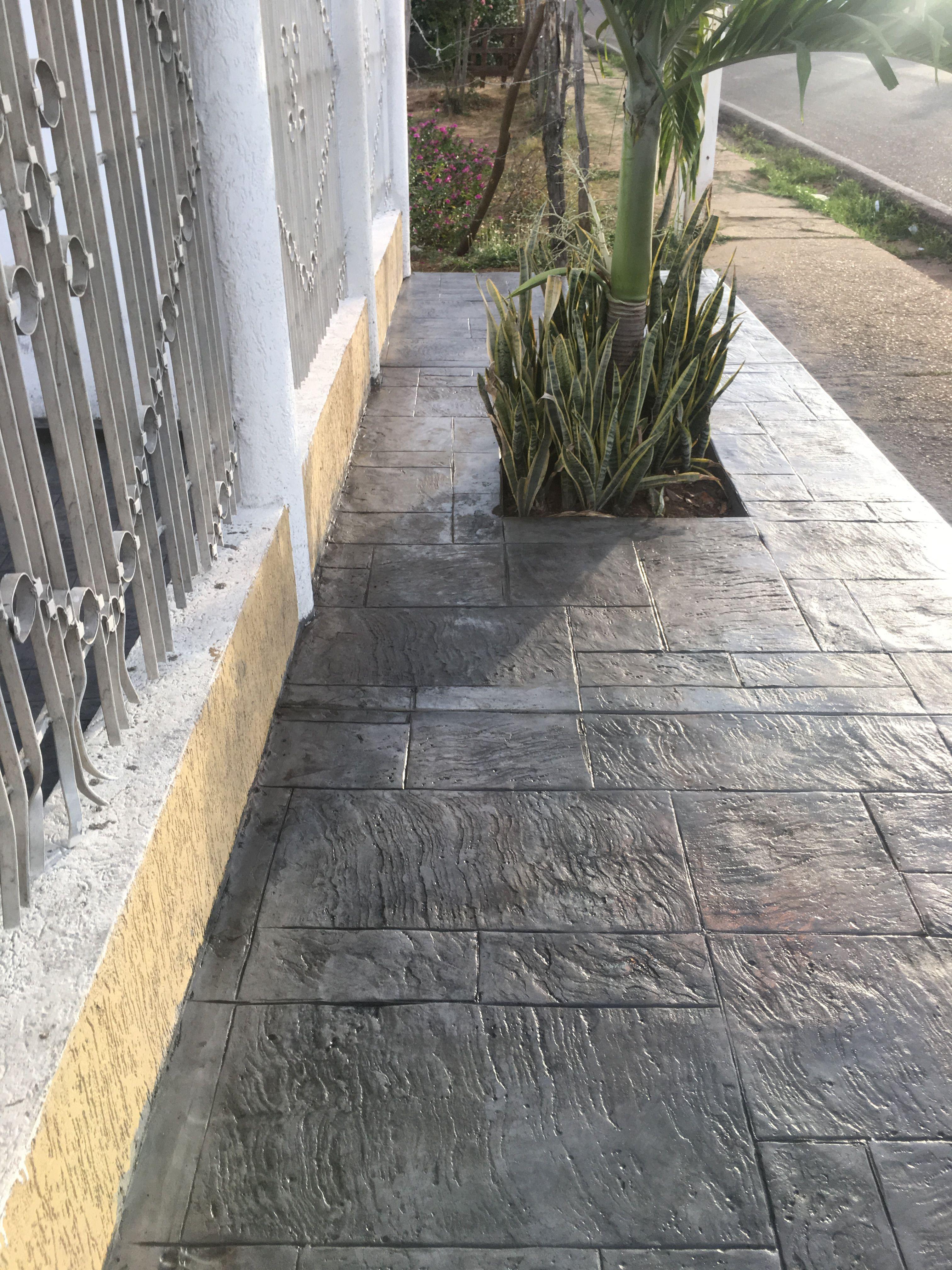 Pisos estampados de concreto home en 2019 pinterest for Cemento pulido exterior