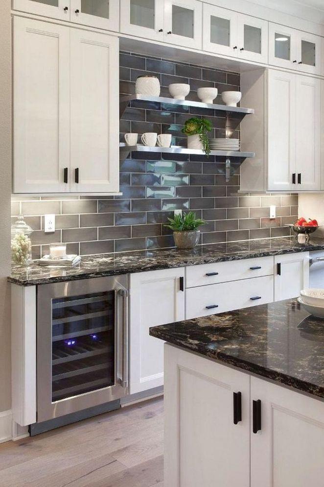 43 Kitchen Backsplash Ideas With Dark Cabinets Subway Tiles