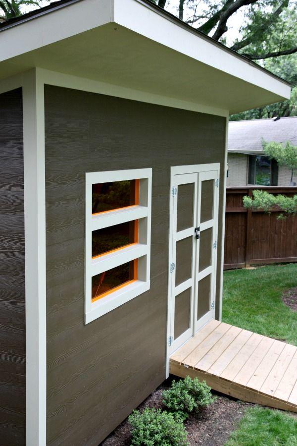 Modern Carport Garage: Modern Shed 2 ACRYLIC Windows