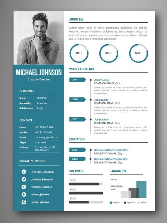 Items Similar To Cv Design Resume Ms Word Resume Iwork Pages Curriculum Cover Letter Curri Graphic Design Resume Resume Design Resume Design Creative