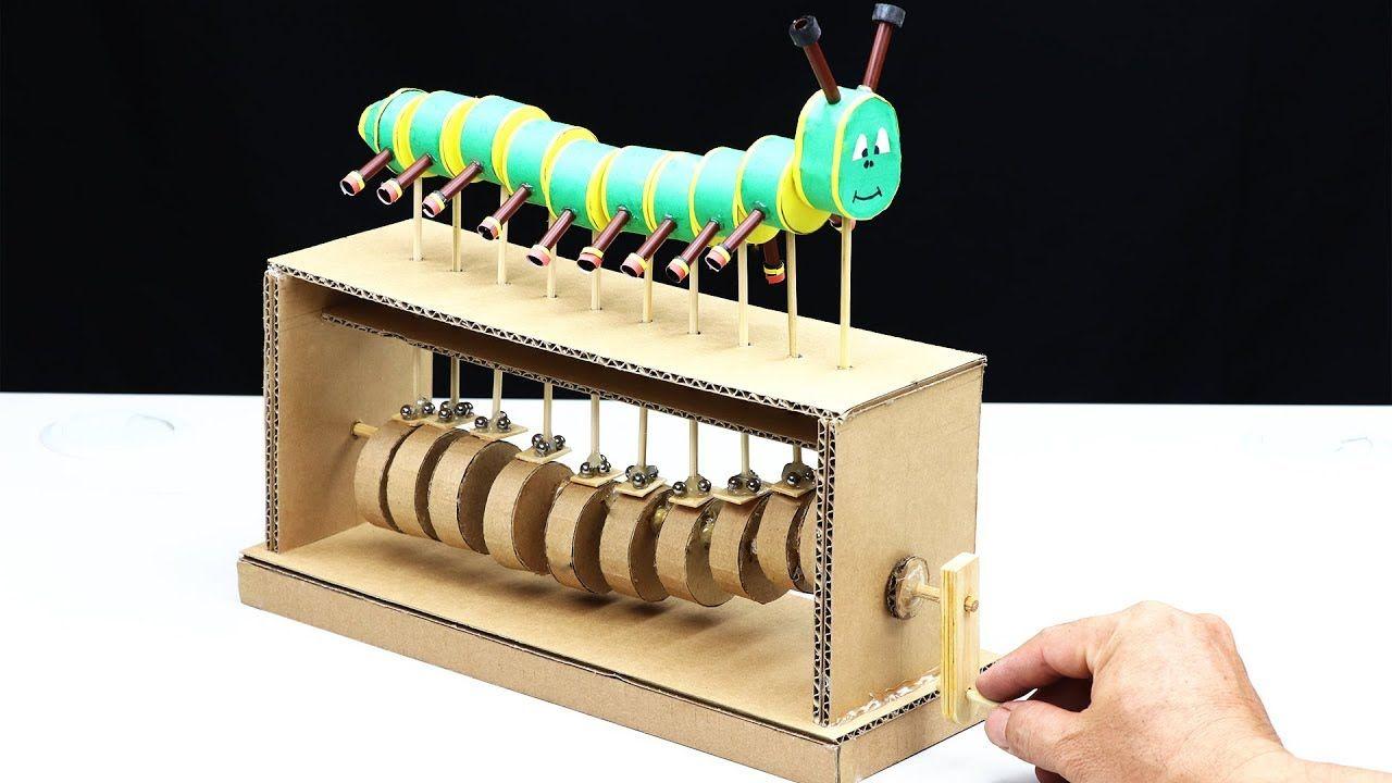 Wow Amazing Diy Cardboard Caterpillar Automata Toy Diy Cardboard Cardboard Toys Diy Toys