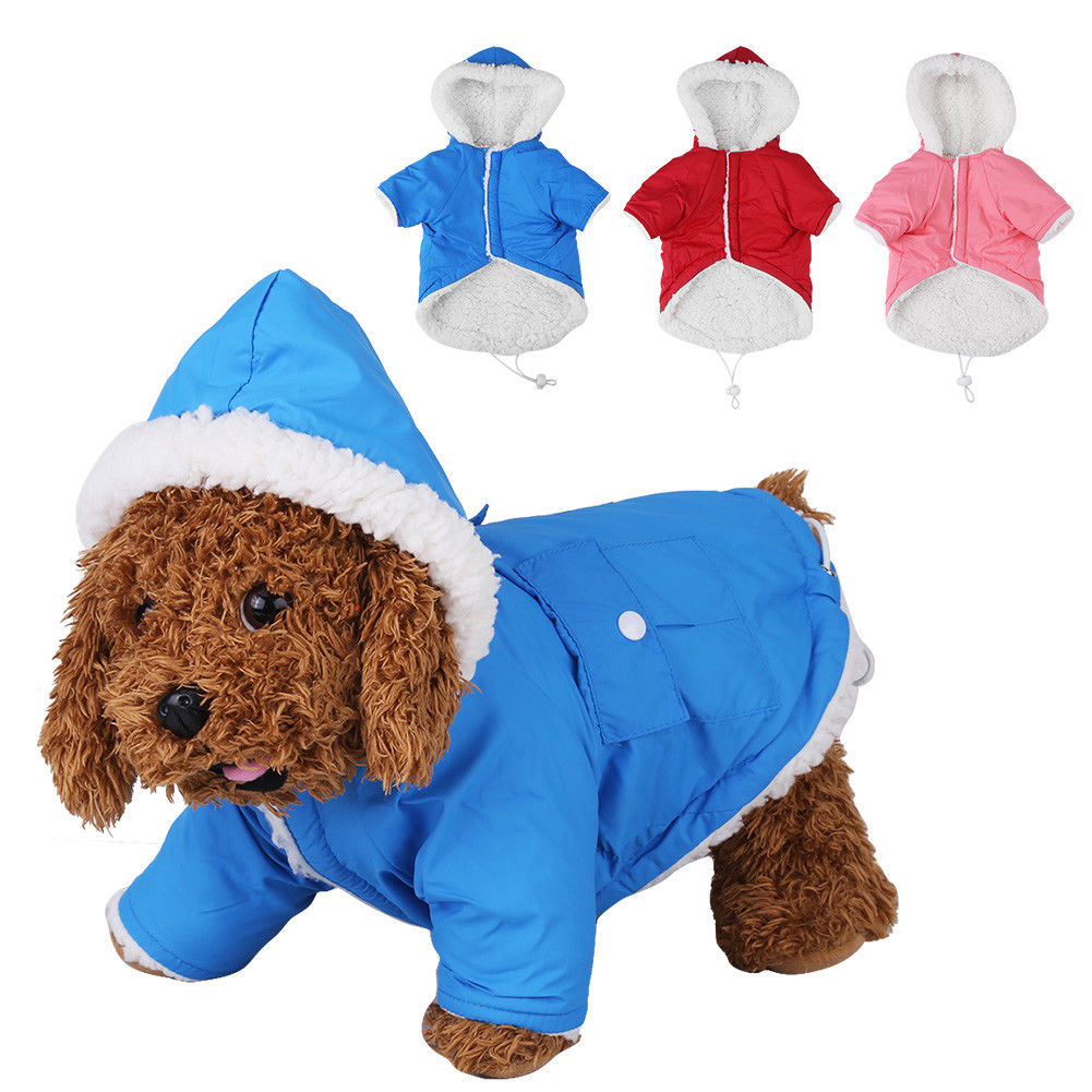 6 99 Aud Pet Dog Cat Winter Warm Clothes Hooded Vest Jacket