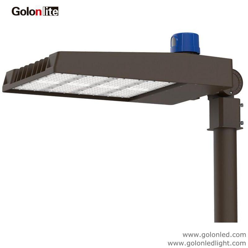 Led Shoe Box Light For Parking Lot Area Lighting 300w Photocell Sensor 120lm W Shoebox Street Lamp Factory In 2020 Led Parking Lot Lights Shoe Box Area Lighting