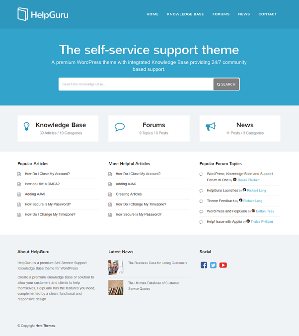 HelpGuru is a premium Self-Service Support #Knowledge Base