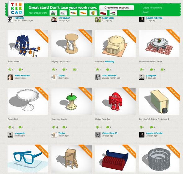 9 Apps To Easily Make 3D Printable Objects | 3D Printing, 3d and CNC