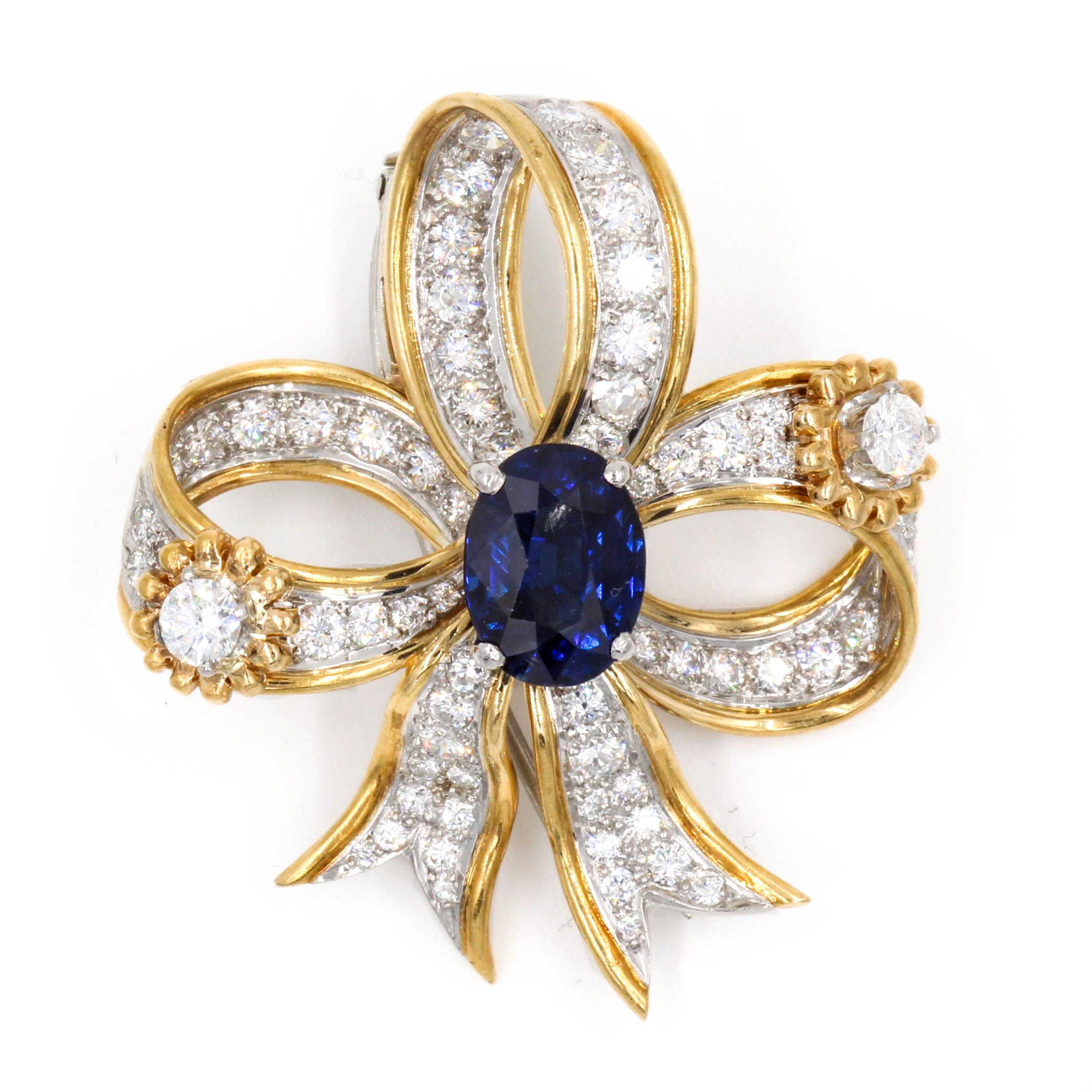 sapphire s sotheby brooch and lot tiffany pin co diamond