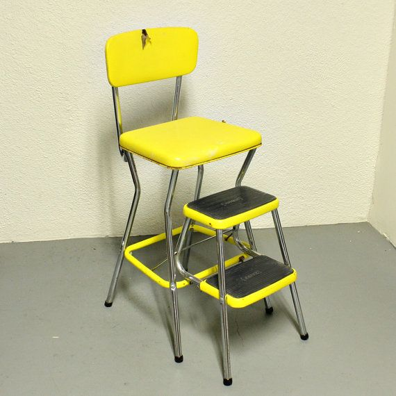 Astonishing Vintage Cosco Stool Step Stool Kitchen Stool Chair Beatyapartments Chair Design Images Beatyapartmentscom