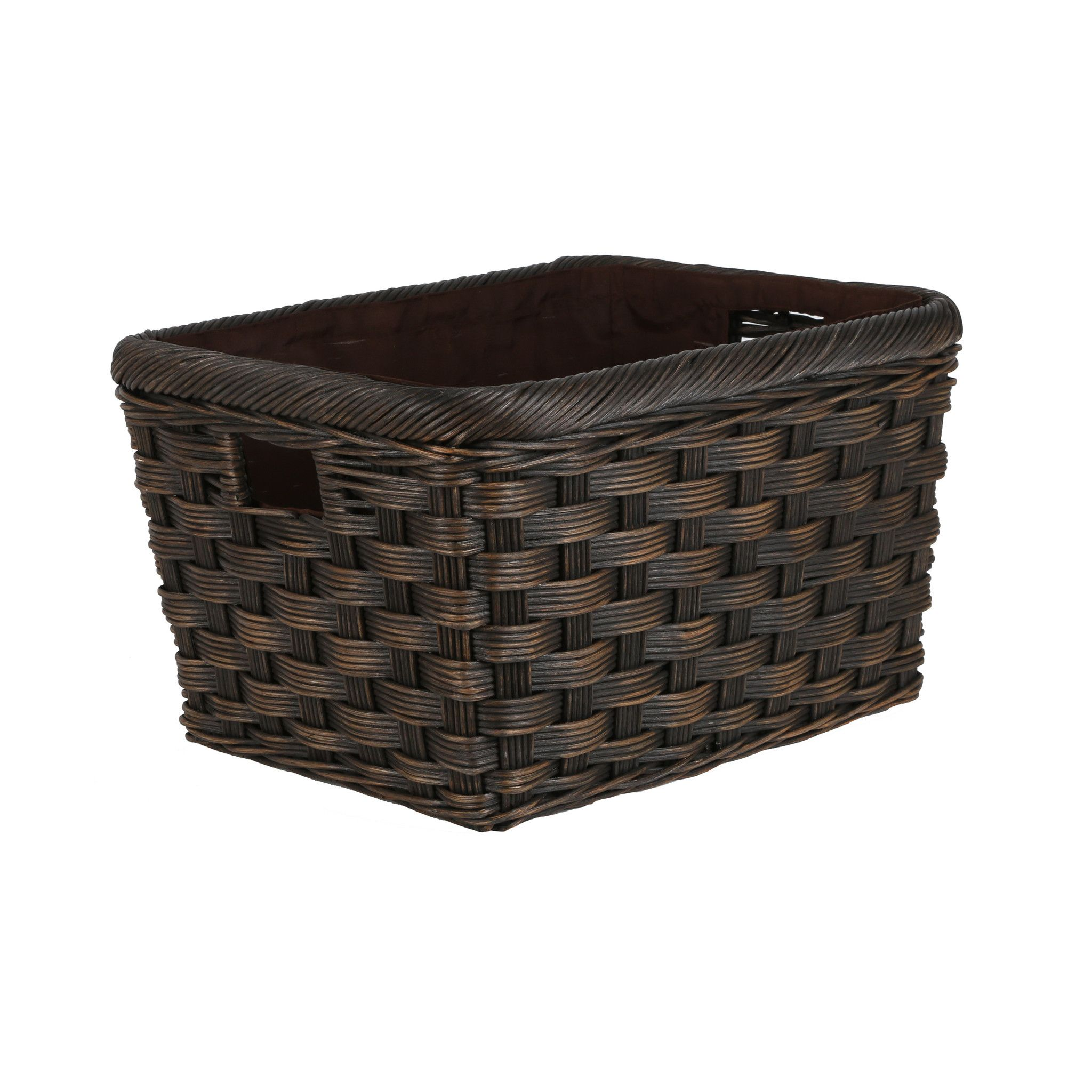 Jumbo Wicker Storage Basket in Antique Walnut Brown size M from The Basket Lady  sc 1 st  Pinterest & Jumbo Wicker Storage Basket | Pinterest | Wicker storage baskets ...