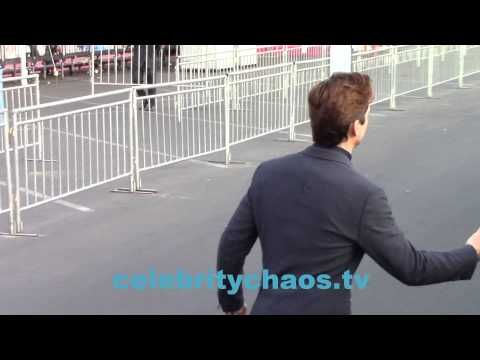 Actor Matt Bomer thrills lucky ladies outside Spirit awards