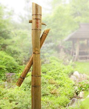 Shishi odoshi bamboo water feature water features water for Bamboo water garden