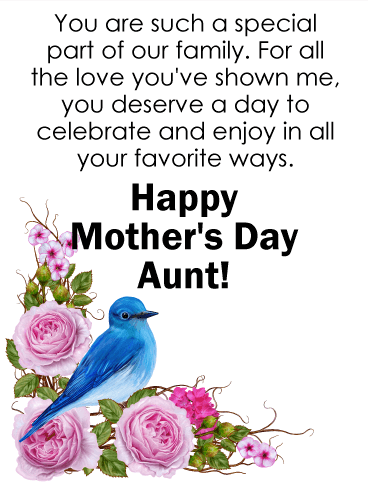 You Are Special Happy Mother S Day Card For Aunt Birthday Greeting Cards By Davia Happy Mother S Day Aunt Happy Mother S Day Card Mothers Day Poems