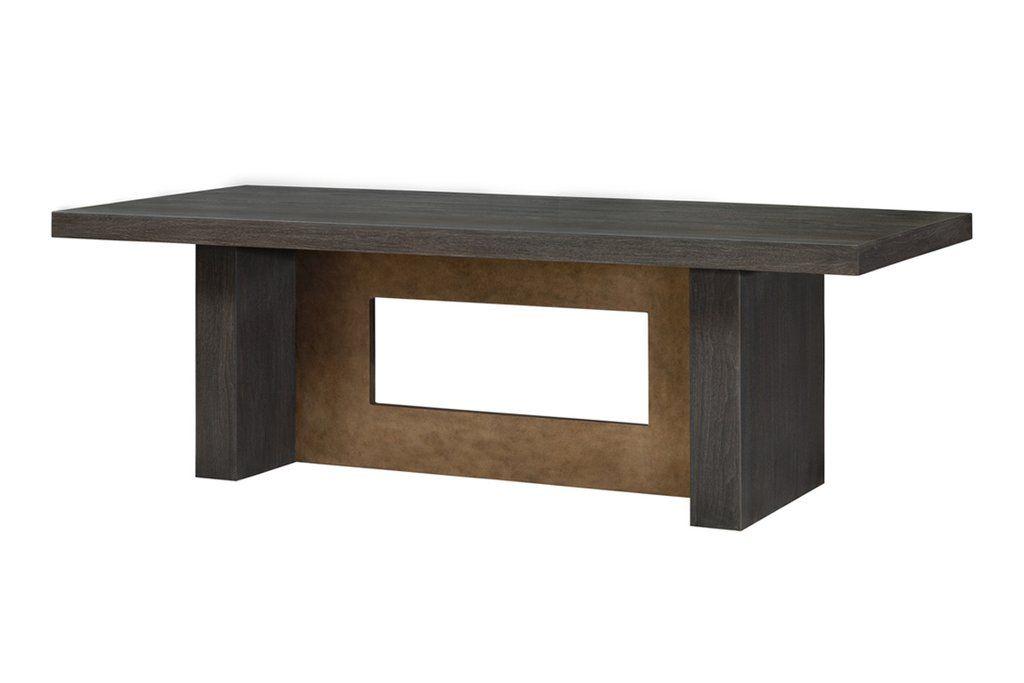 Malba Rectangular Wood And Metal Base Dining Table Herringbone And Company Metal Base Dining Table Dining Table Long Dining Table