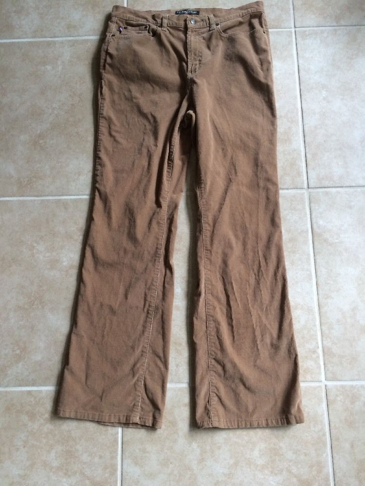 Polo Jeans Company Ralph Lauren Women's Brown Corduroy Pants Size 12 #PoloJeansCo #Corduroys