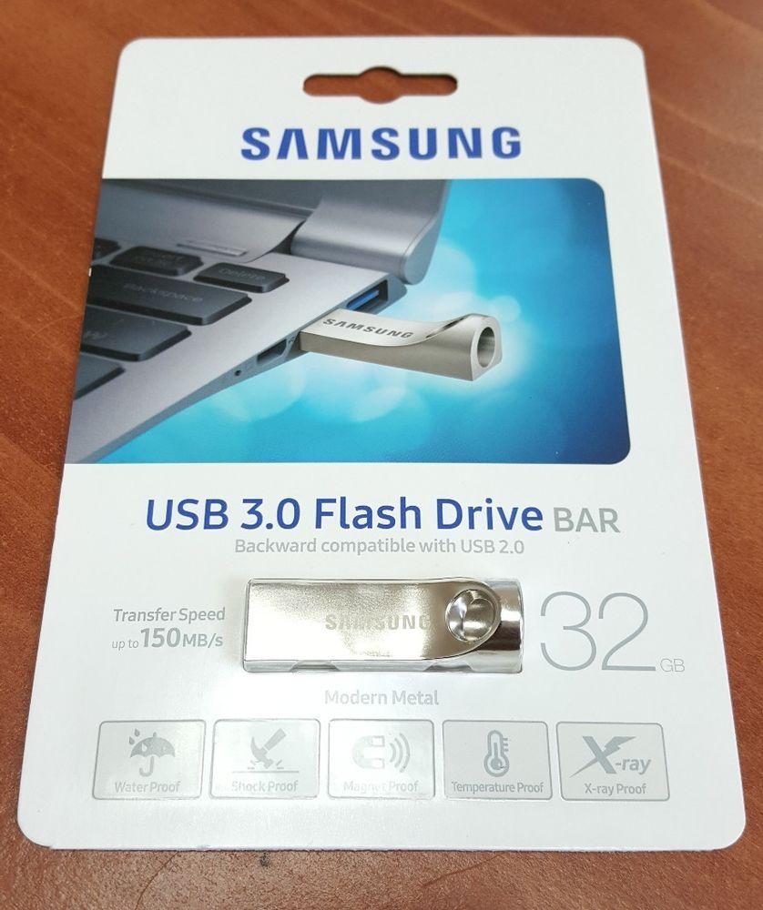 Samsung 32gb Bar Metal Usb 3 0 Flash Drive Muf 32ba Am New Sealed Ebay Flash Drive Usb Samsung