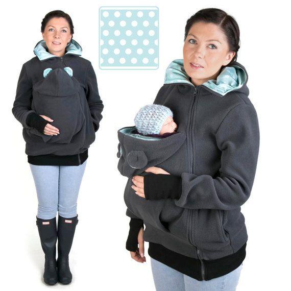 LITTLE BEAR Baby carrier babycarrying jacket hoodie Kangaroo coat ...