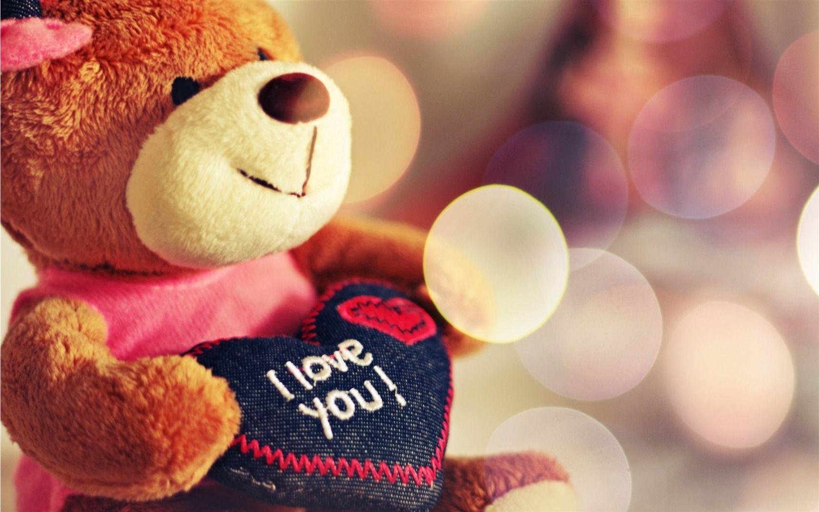 I Love You Teddy Bear Love Theme Desktop Wallpapers 1680x1050