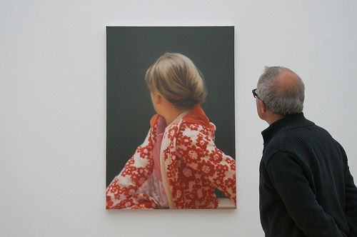 Gerhard Richter at Fondation Beyeler Vernissage