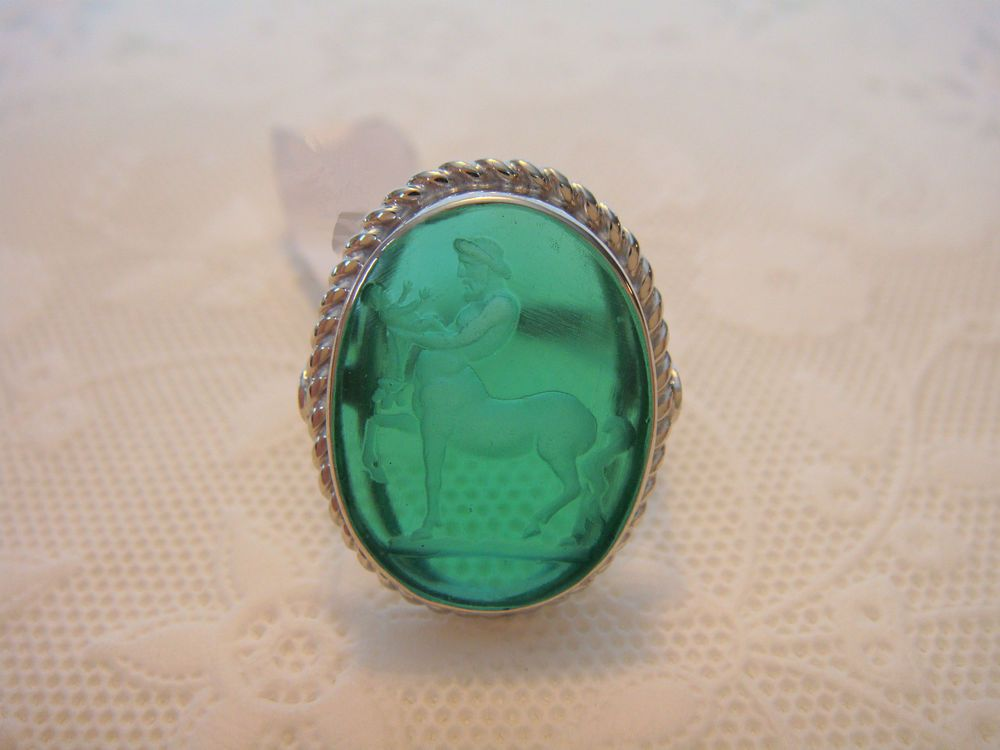 TAGLIAMONTE OUTLET~ 925SS + Venetian Cameo Ring ~ Centaur *PRICED BELOW COST* #Tagliamonte #Ring