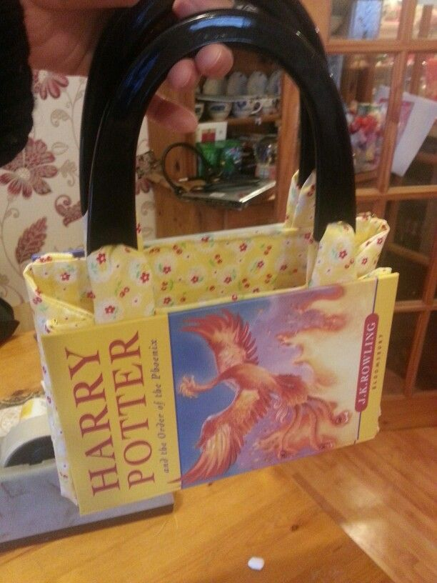 Harry Potter bag made from hardback cover