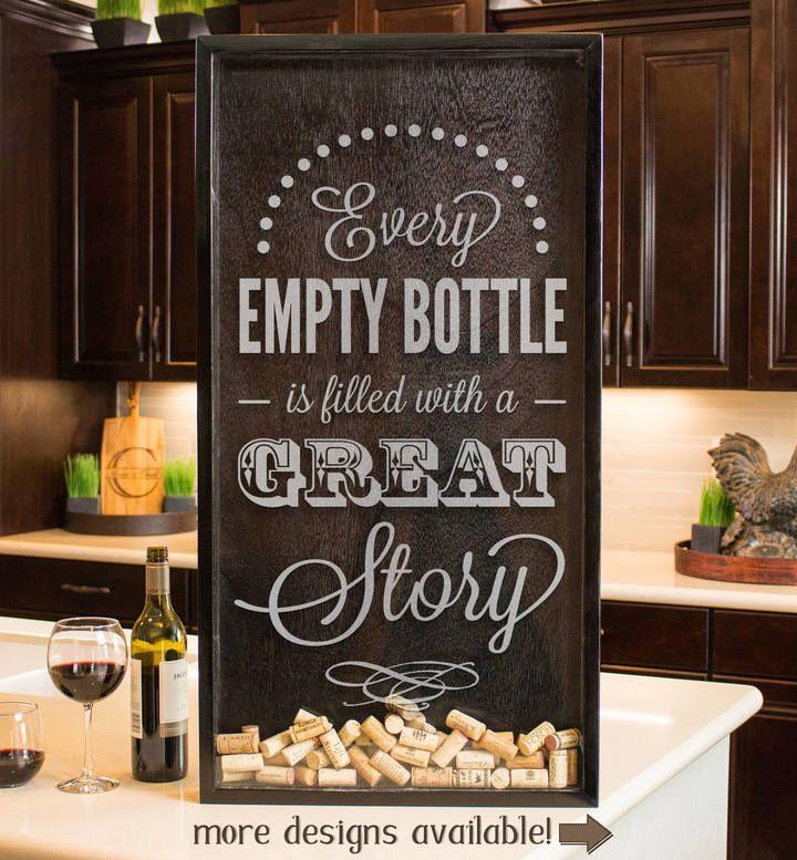 Wine Box Decor Etsy Wine Shadow Box Wine Art Wine Sign Wine Box Memento Gift