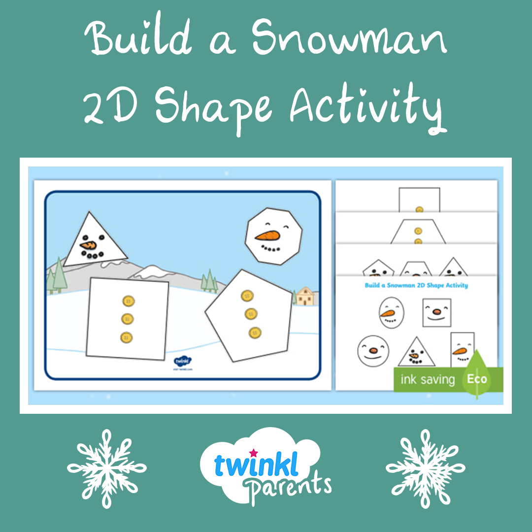 Build Your Own Snowman Using A 2d Shape Activity This