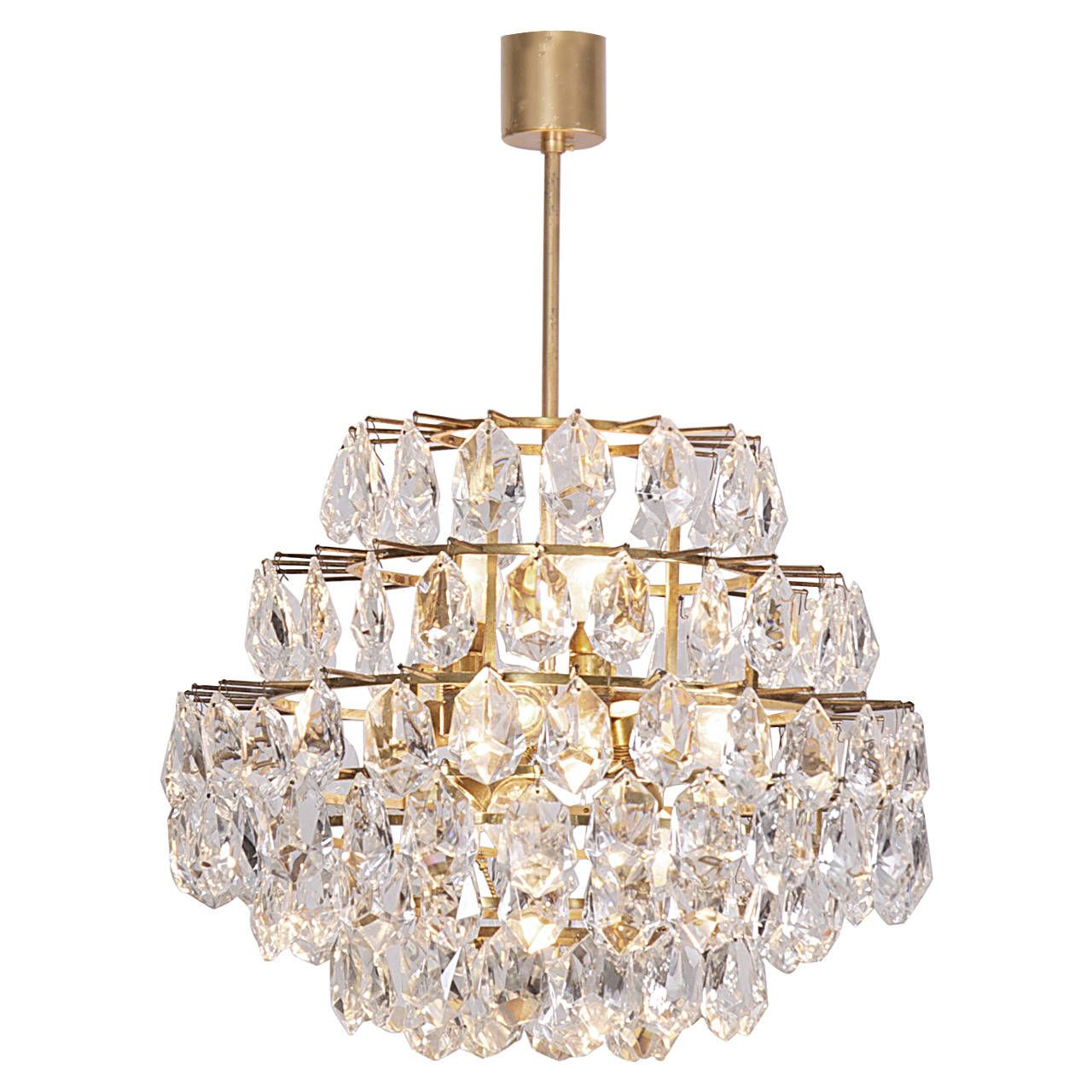 Stunning Seven-Tier Crystal Glass Bakalowits Chandelier | From a unique collection of antique and modern chandeliers and pendants at https://www.1stdibs.com/furniture/lighting/chandeliers-pendant-lights/