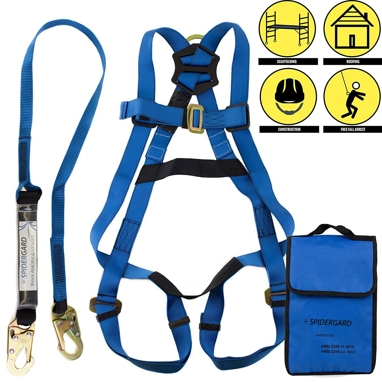 Spidergard Single D Ring Full Body Safety Harness Top 10 Best Kit