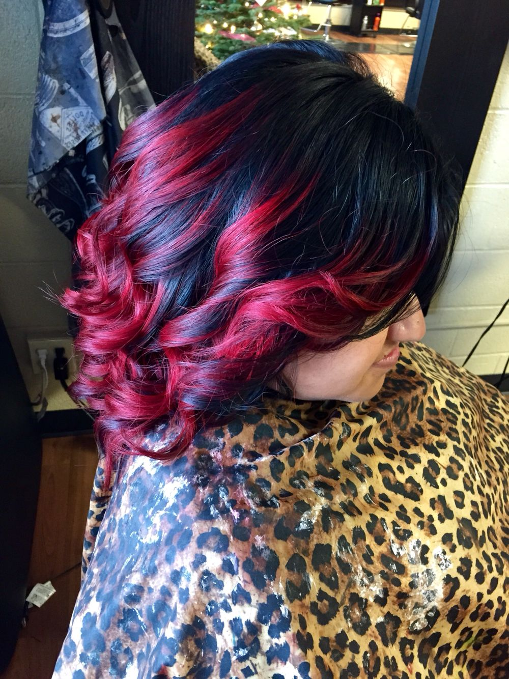 Black to red short hair ombre cosmetic pinterest short hair