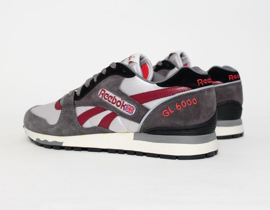 Reebok GL6000 Grey Burgundy #sneakers | Chaussure sport