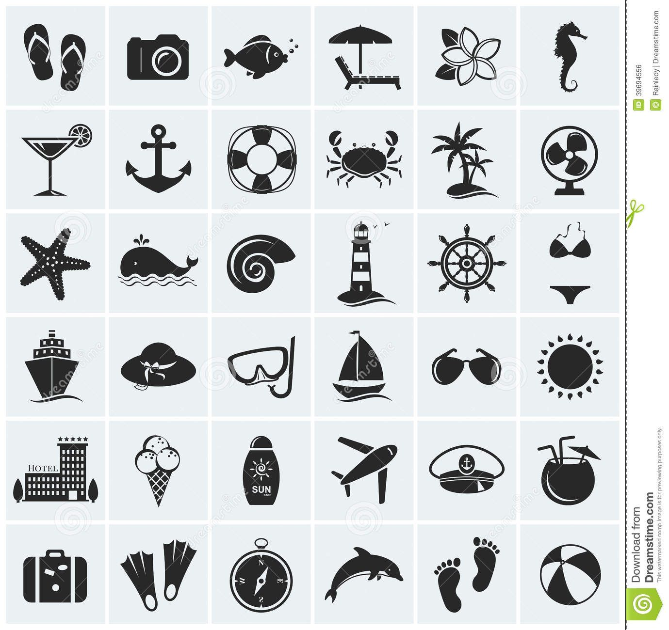 Set of sea and beach icons vector illustration stock vector set of sea and beach icons vector illustration stock vector image 39694556 biocorpaavc Choice Image