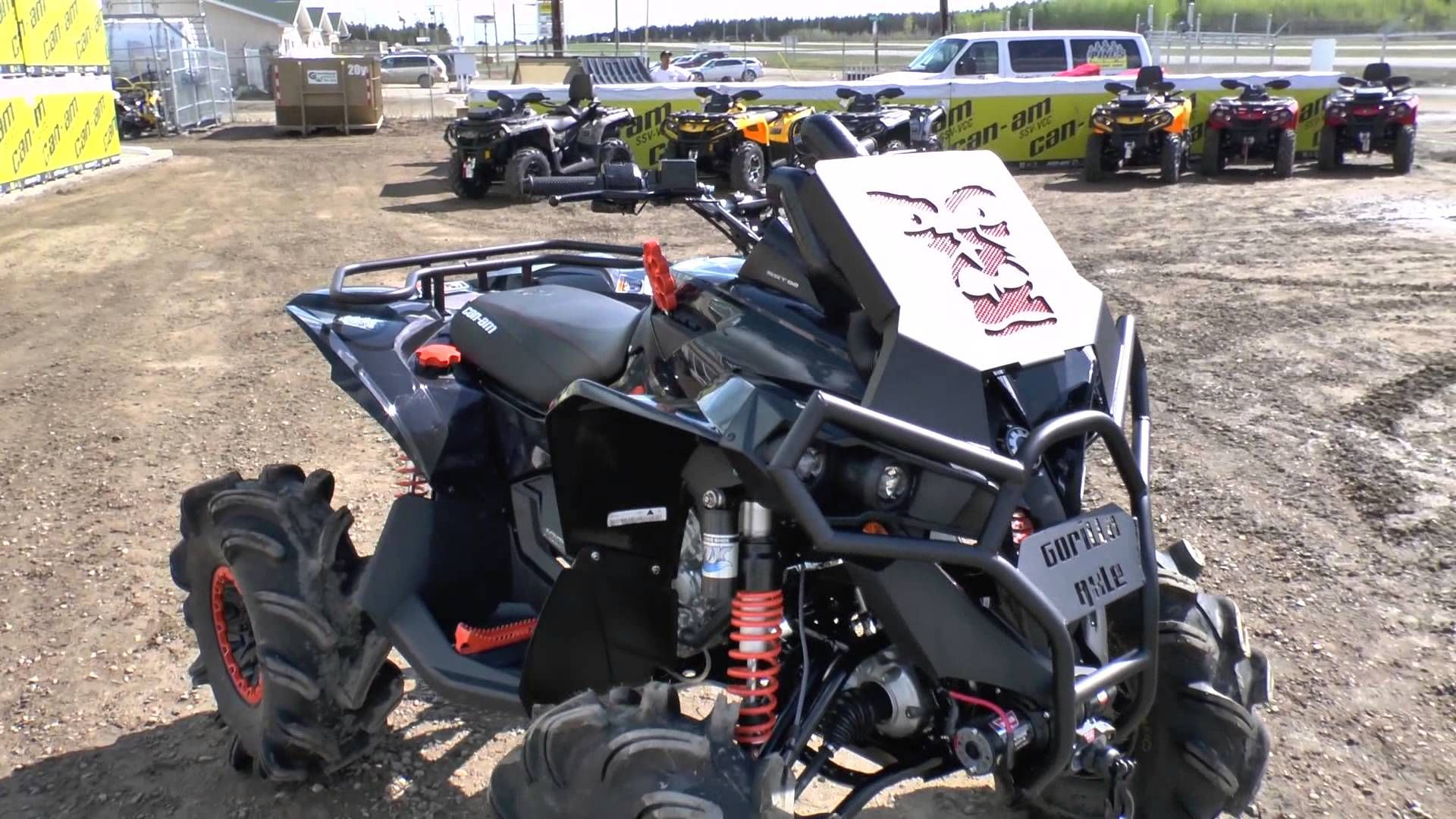 Jacked Up Modified Can Am Renegade 1000 S From The 13 Season Here At Pinespsm Can Am Renegade Mudding