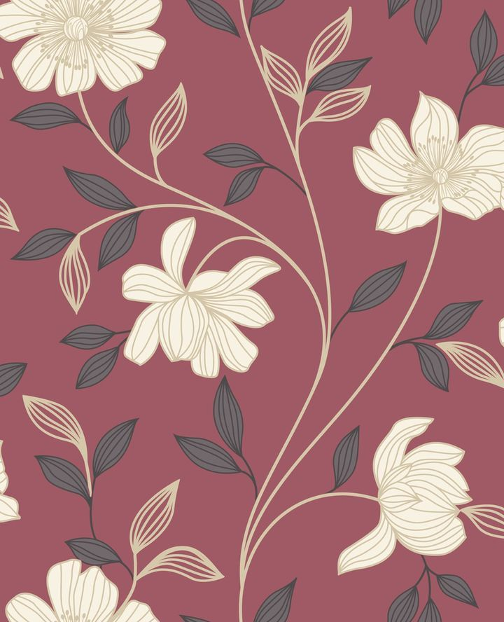 Graham brown red cream camille wallpaper on shopstyle com au