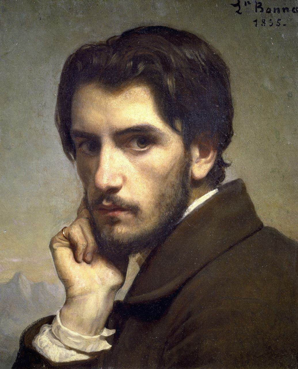 l eacute on joseph florentin bonnat self portrait or portrait of a a young