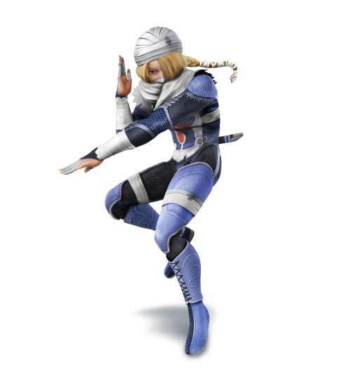 Sheik as she appears in Super Smash Bros. for Nintendo 3DS / Wii U.