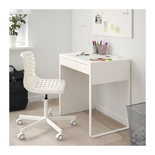 Blanc IKEA MICKE Bureau Bois
