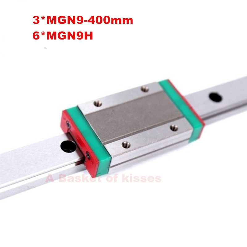 1Pc MGN12C Block CNC Tool 12mm Miniature Sliding Block Linear Guide Rail L100mm