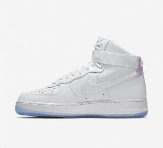 buy online c8170 fa5bd Nike Air Force 1 High Premium White White Ice Blue 654440 105 Mens Womens  Sneakers