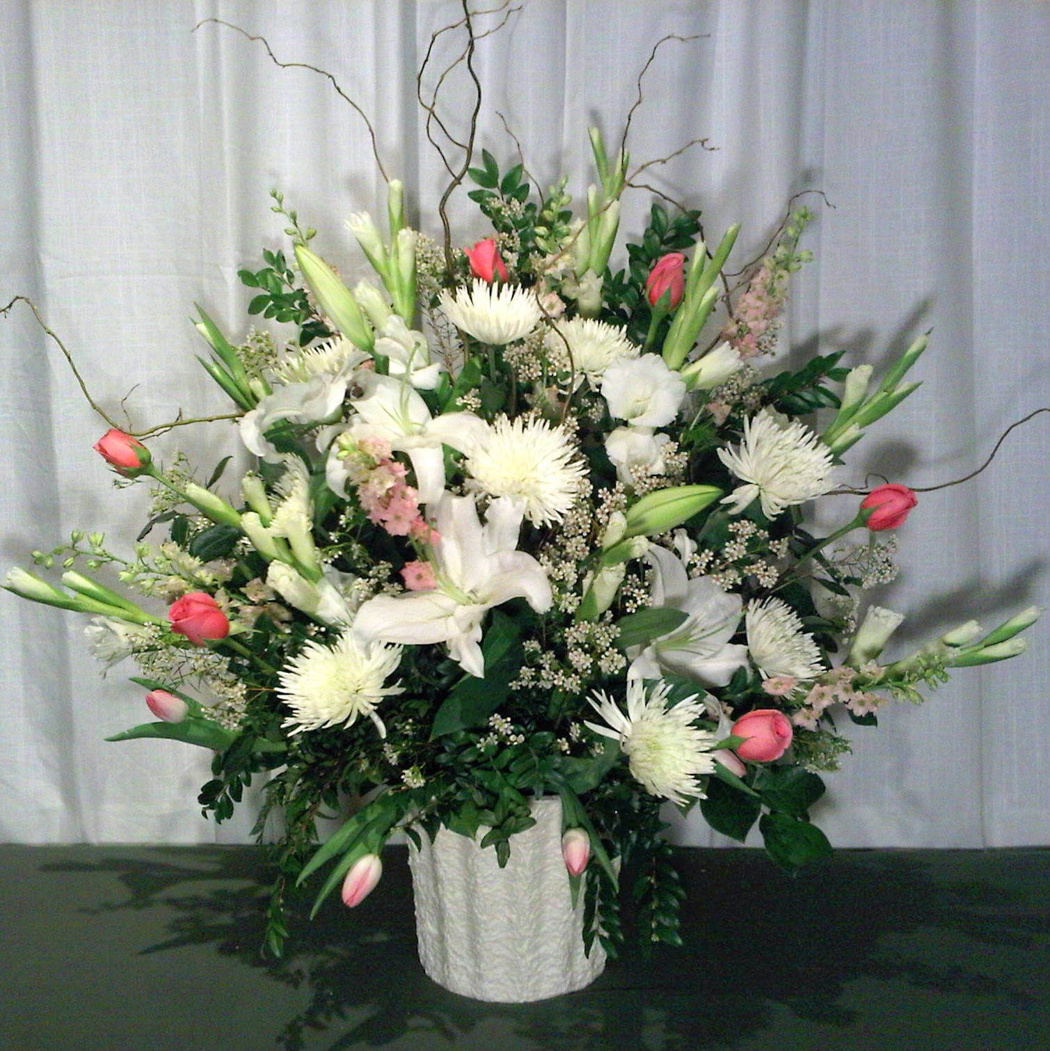 Floral Arrangements - Displaying 19> Images For  Modern White