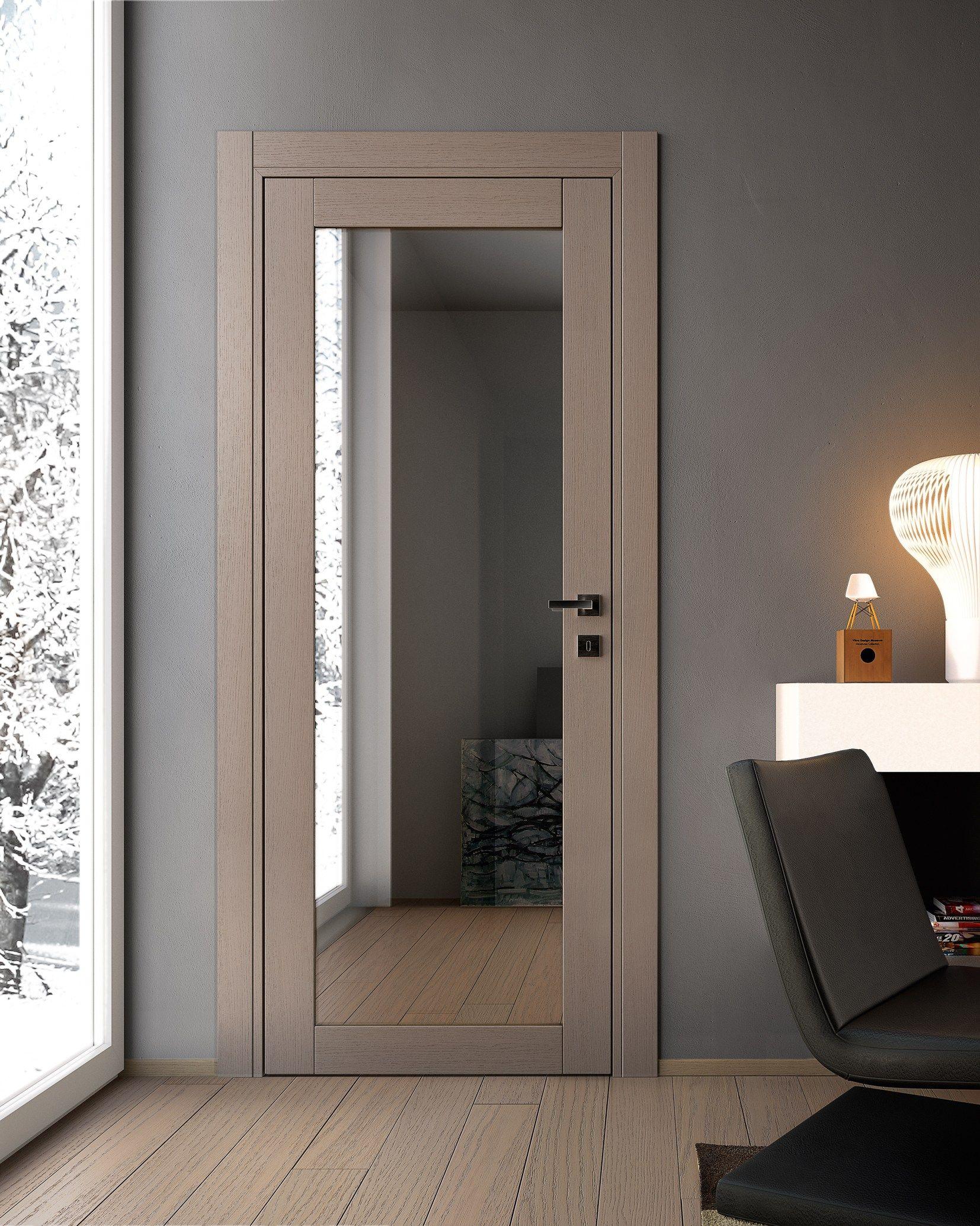 Gabilia puerta de vidrio by garofoli home puertas for Puertas de madera con vidrio para interior