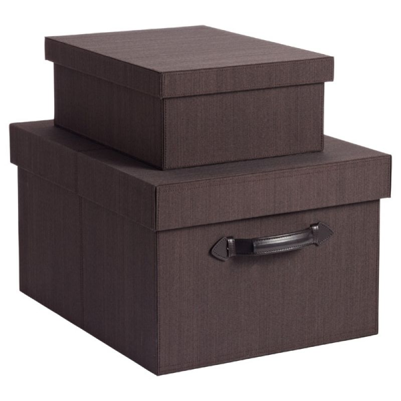 Espresso Parker Collection Memento Box Office Storage Container Simplyed