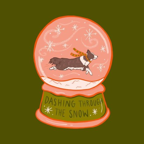 Dashing through the snow. ️ | Society6 thumbnail