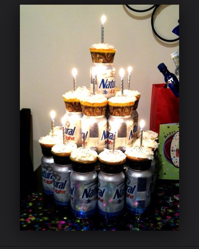 Admirable Beer Cupcake Tower With Images Birthday Cakes For Men Husband Funny Birthday Cards Online Elaedamsfinfo