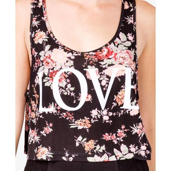 Floral Love Tank ($13) ❤ liked on Polyvore