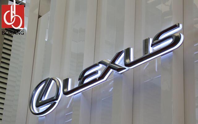 D Acrylic Led Light Car Logo Signs Auto Logo With Names Buy D - Car signs and namescar logo logos pictures