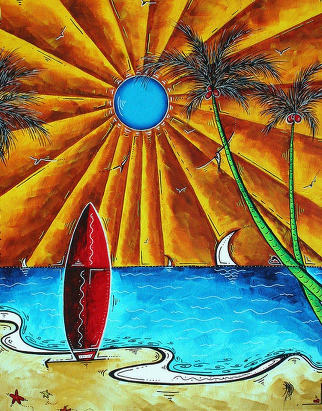 Dibujos faciles para pintar con acrilico paisajes - Pintar cuadros faciles ...