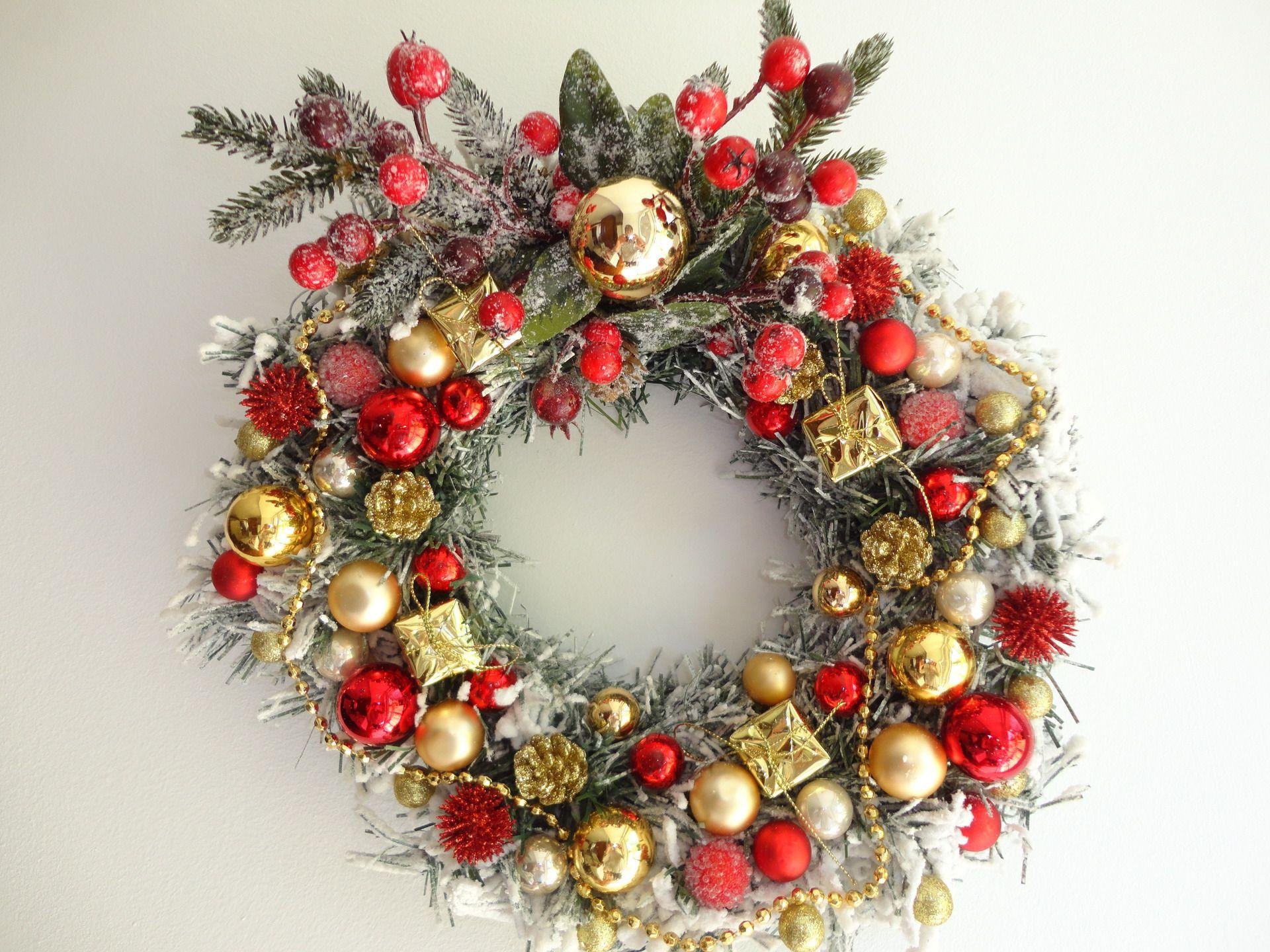 Couronne De Porte Noel Design couronne de noël, couronne de l'avent blanche, couronne de