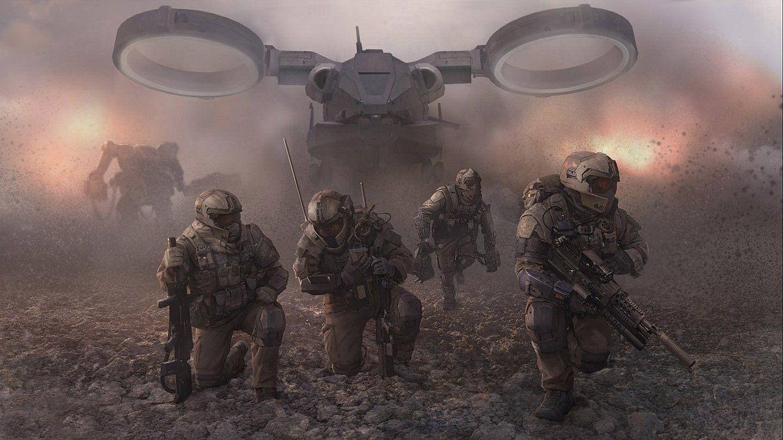 Sci Fi Warrior Wallpaper Sci Fi Wallpaper Futuristic Art Future Soldier