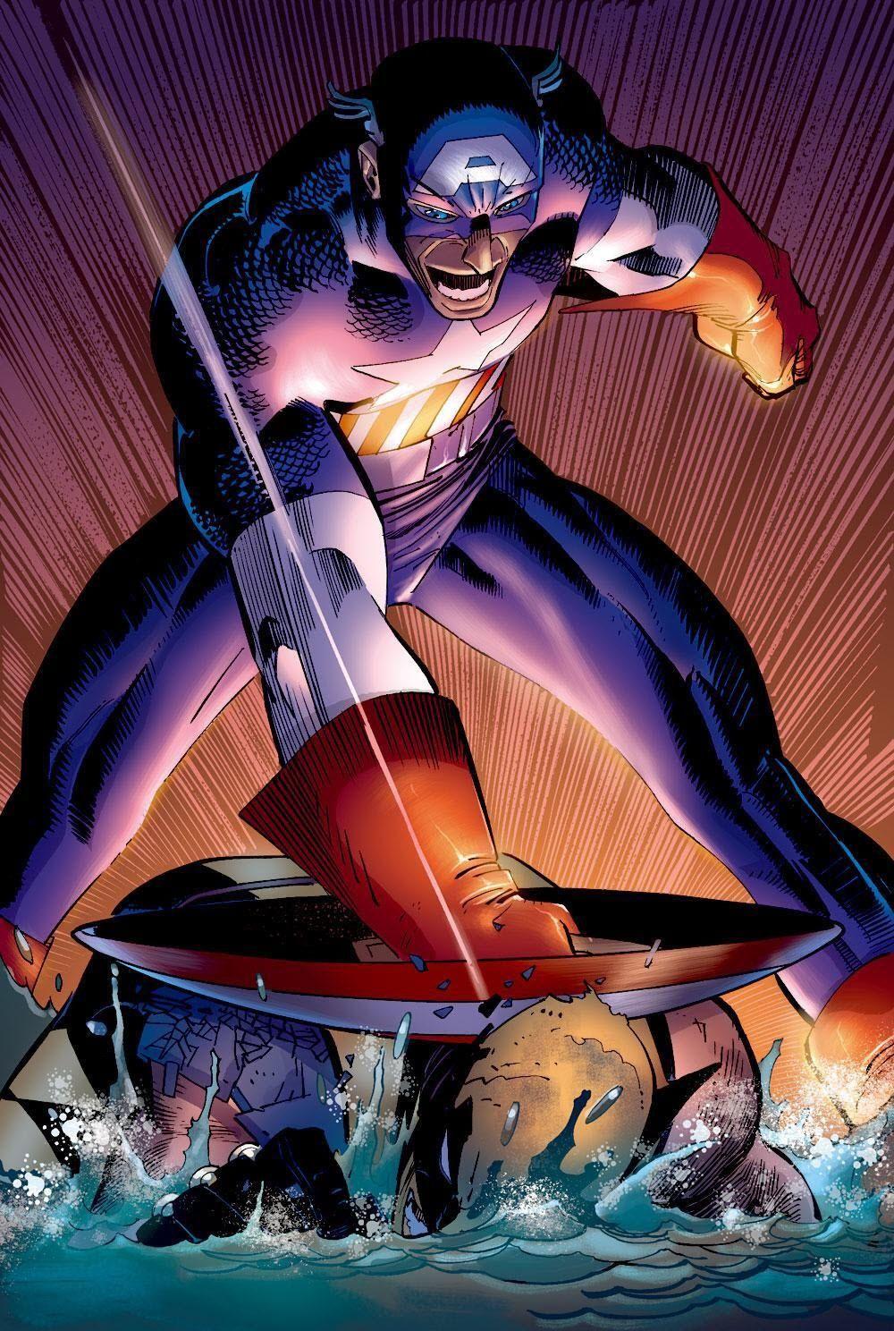 Captain America: Captain America vs. Wolverine by John Romita Jr. ®