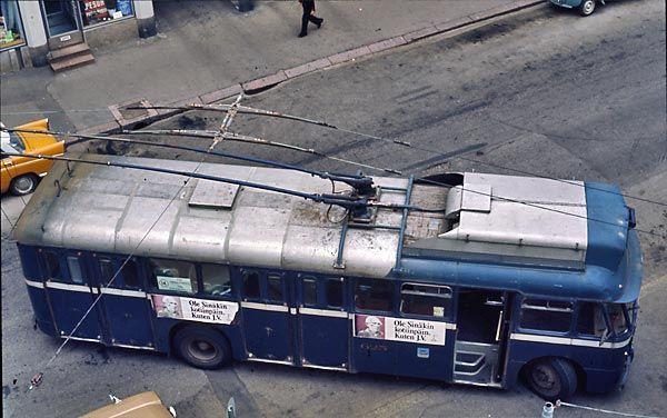 Helsinki, Johdinautot / Trolleybuses: HKL 624 - 626