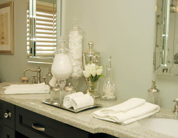 #Bathroom Accessory Essentials, Including Polished #silver, White #flowers,  And #